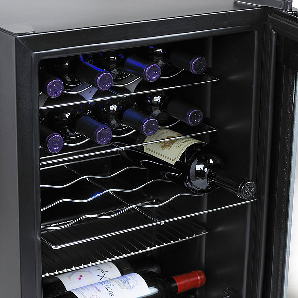20-Bottle Evolution Series Wine Refrigerator (Black Stainless Steel Trim)