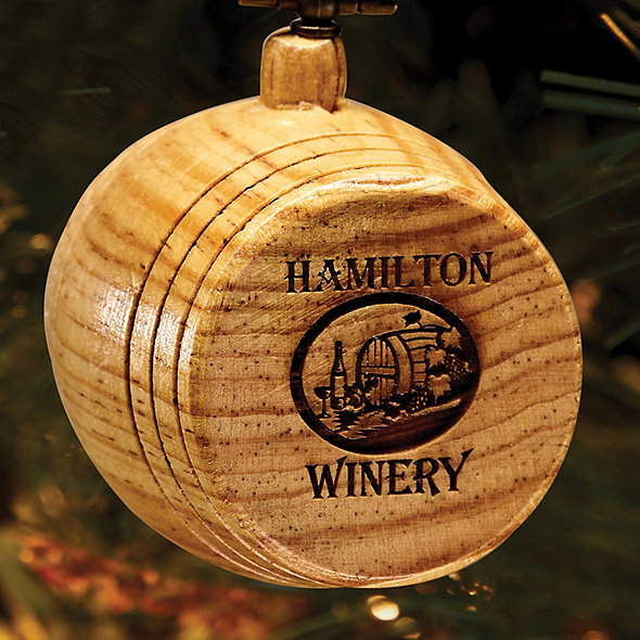 2018 Personalized Wine Barrel Winery Ornament