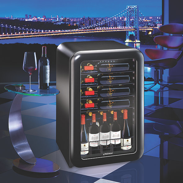 Jazz by Wine Enthusiast 36-Bottle Wine Cooler (Matte Black)