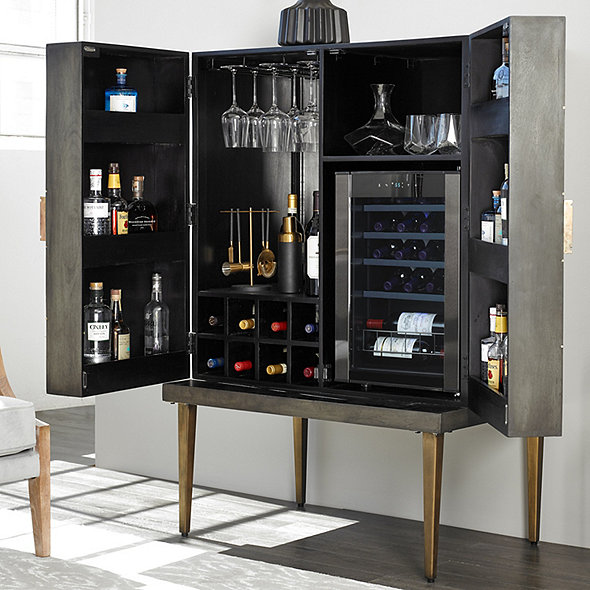 Cava Wine & Spirits Cabinet with Wine Cellar