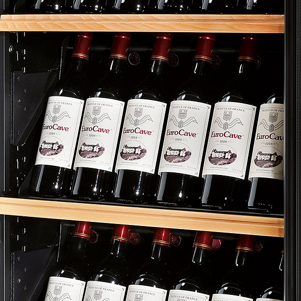 EuroCave Pure Double L Wine Cellar With Display Presentation Shelf