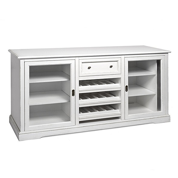Siena Wine Credenza (Antique White)