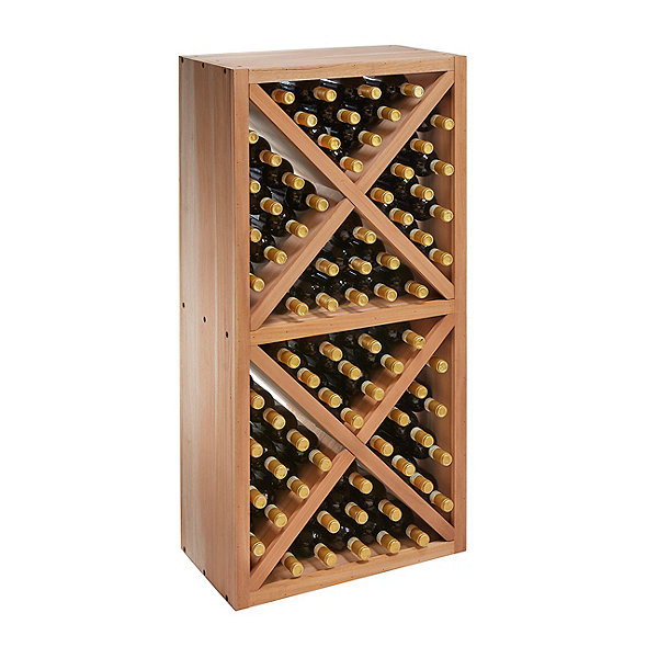 N'FINITY Stackable 4 Foot Wine Rack - Diamond Solid Cube