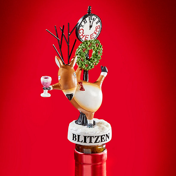 Blitzen Lamp Post Wine Bottle Stopper