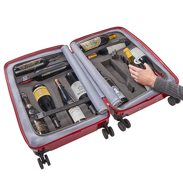 Vino-Voyage 2.0 TSA-Approved 12-Bottle Wine Suitcase with Integrated Weight Scale