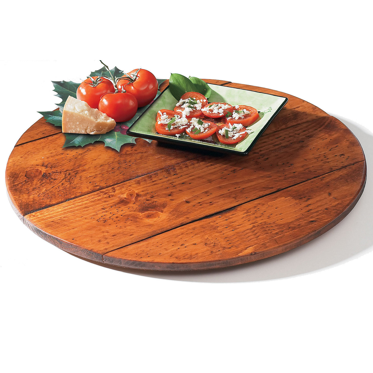 Wine Barrel Lazy Susan Wine Enthusiast