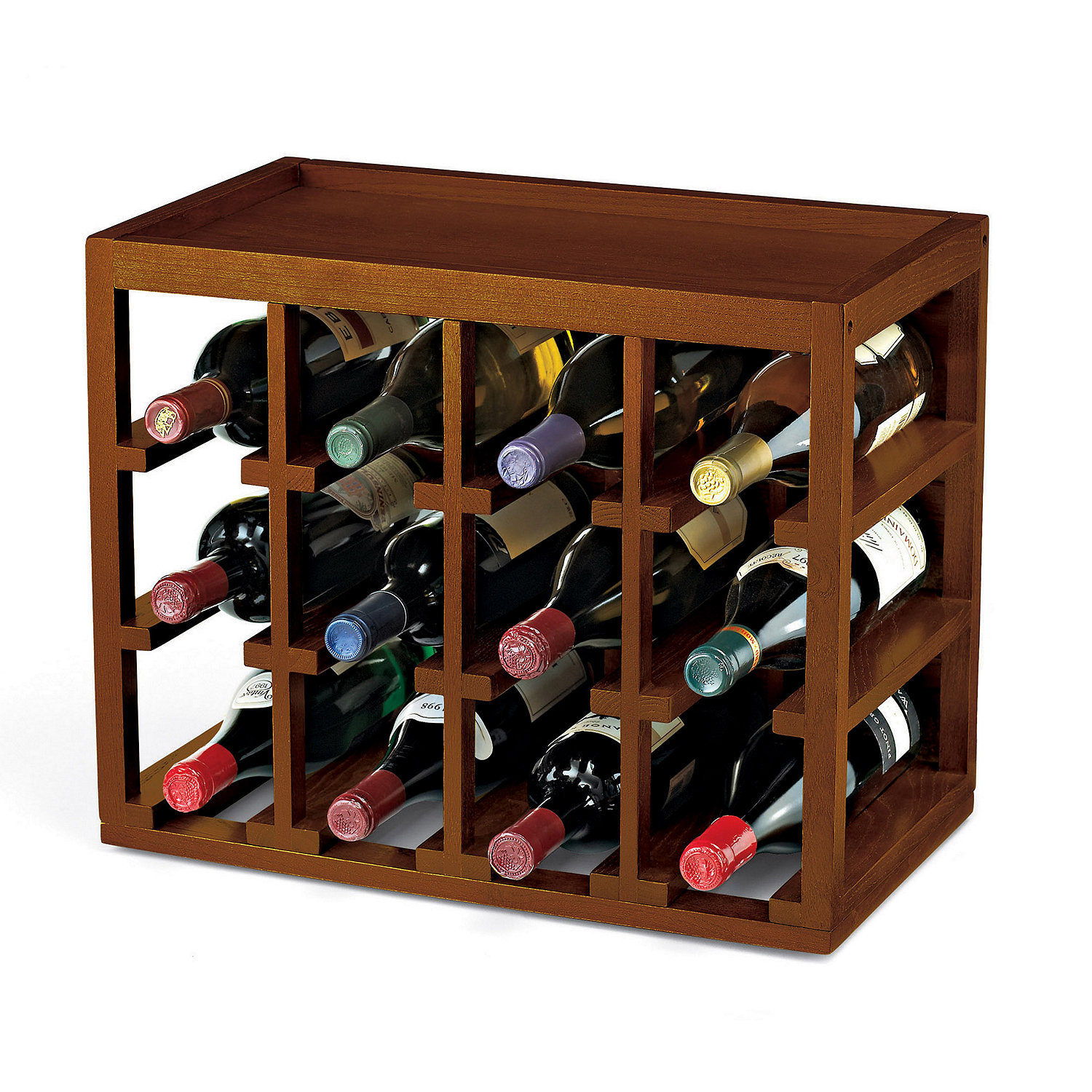 12 bottle cube stack wine rack wine enthusiast rh wineenthusiast com wooden wine shelving wooden wine storage crates