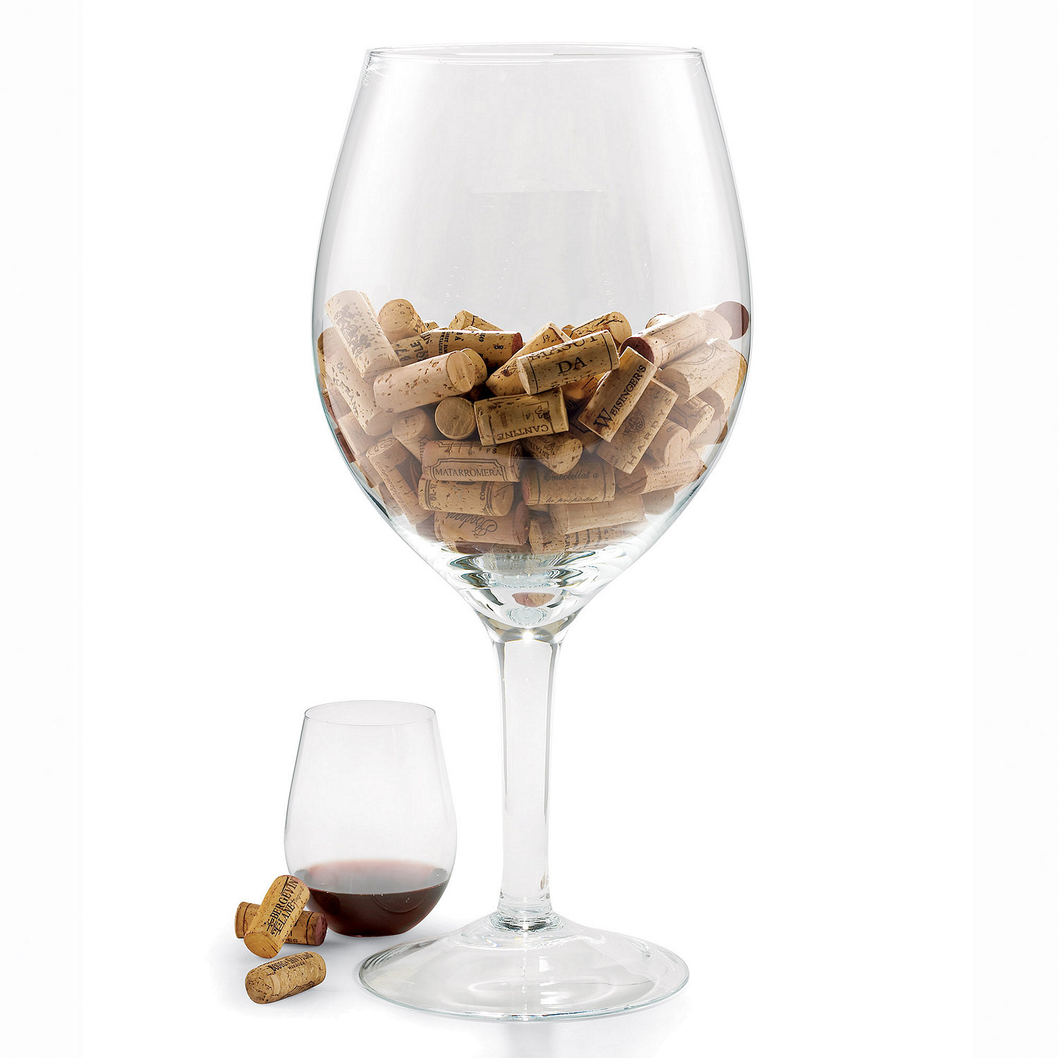 Oversized Wine Glass Cork Holder Wine Enthusiast