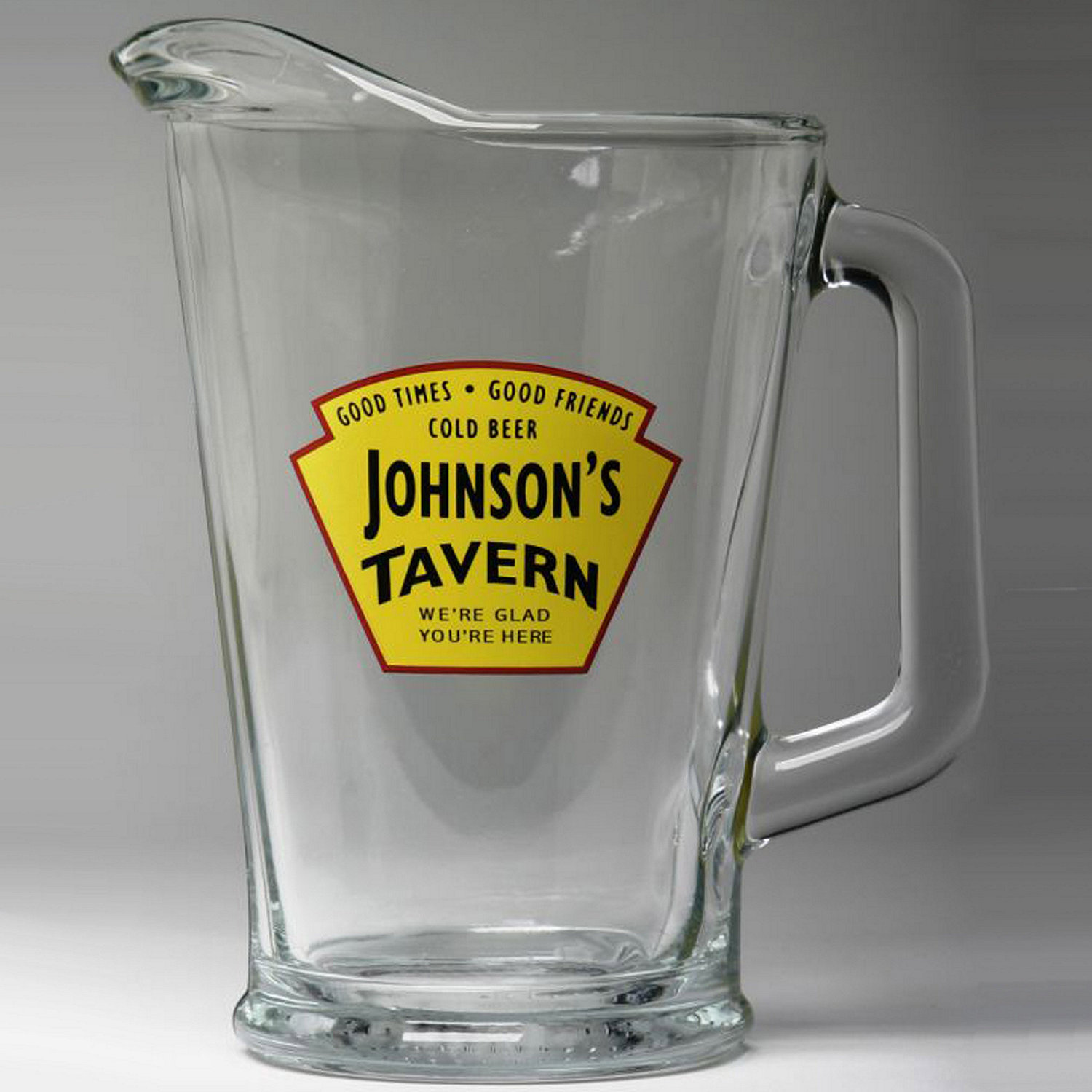 personalized yellow tavern beer pitcher wine enthusiast