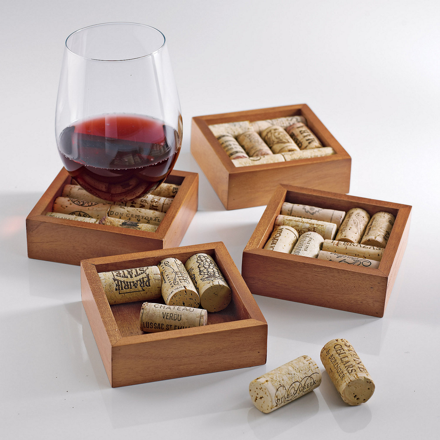 Preparing Zoom Wine Cork Coasters Kit Set