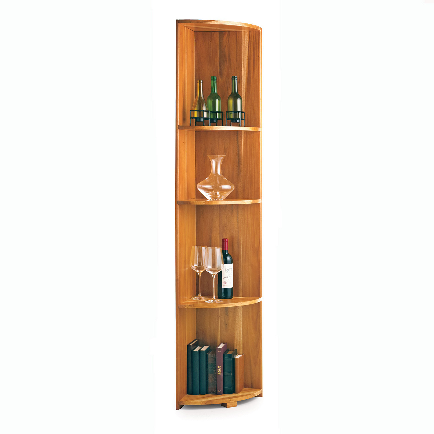 n finity wine rack kit quarter round shelf wine enthusiast rh wineenthusiast com Small Corner Wine Cabinet Corner Wine Bar Cabinet