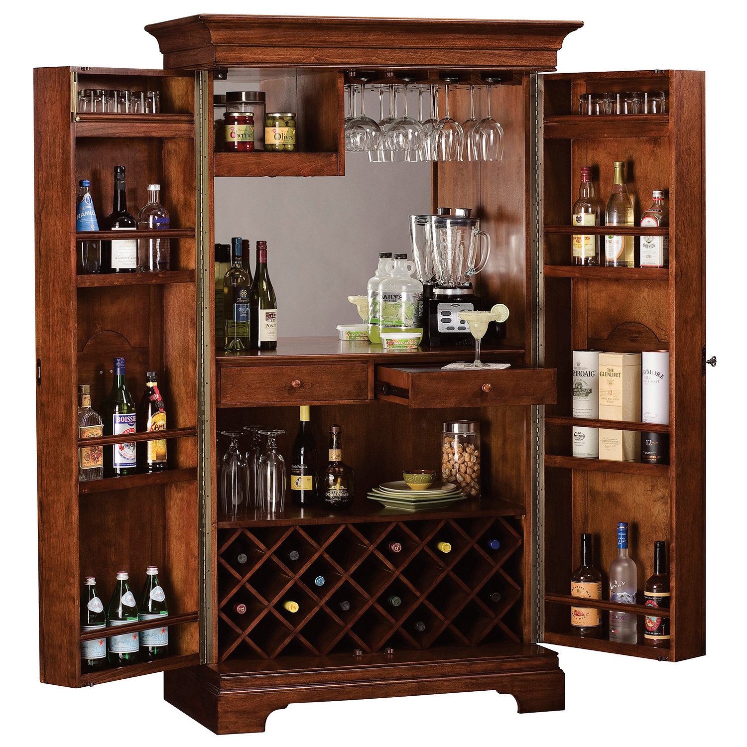 Howard Miller Barossa Valley Wine Bar Cabinet Wine Enthusiast