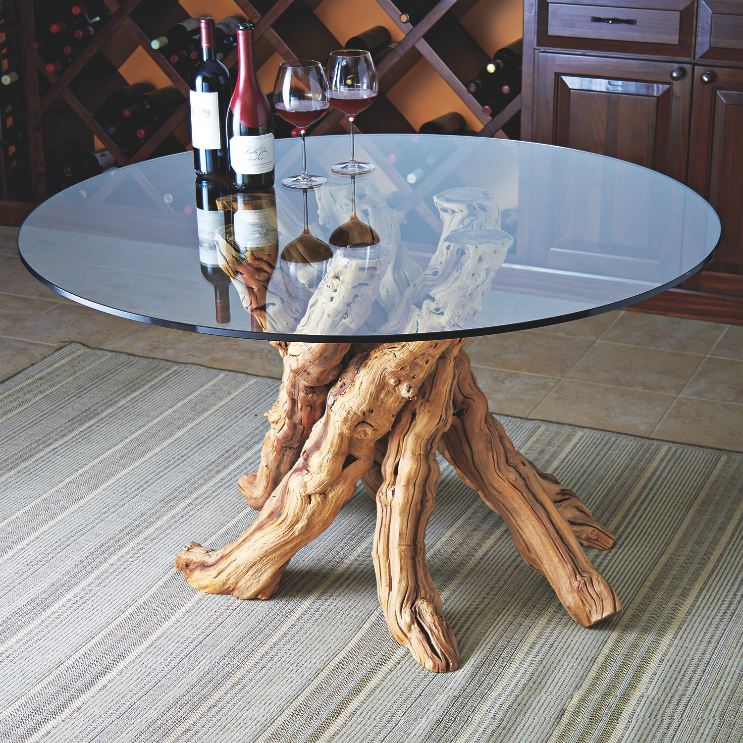 Grapevine Dining Table Round Wine Enthusiast - Grapevine coffee table