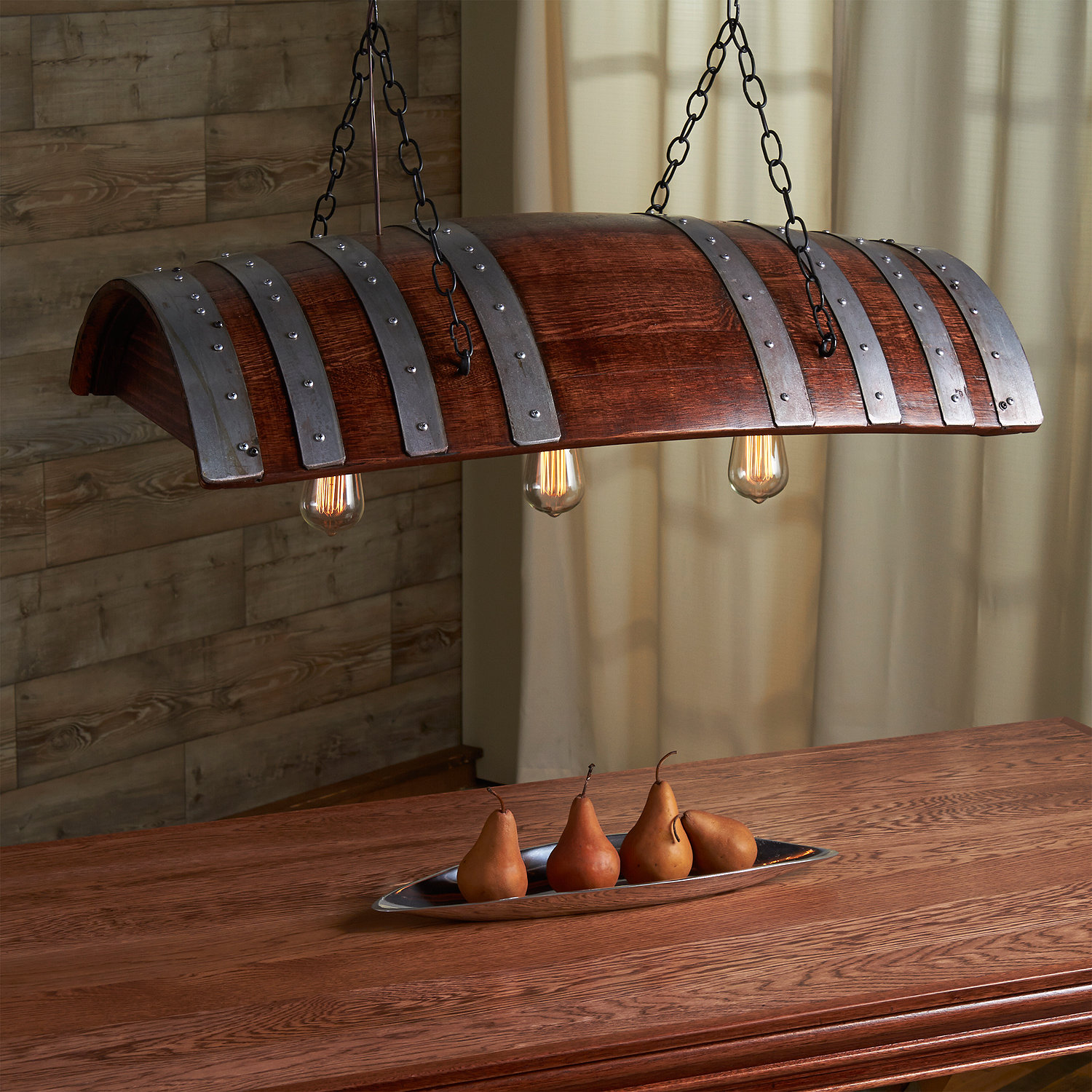 Wine Barrel Hanging Light Preparing Zoom