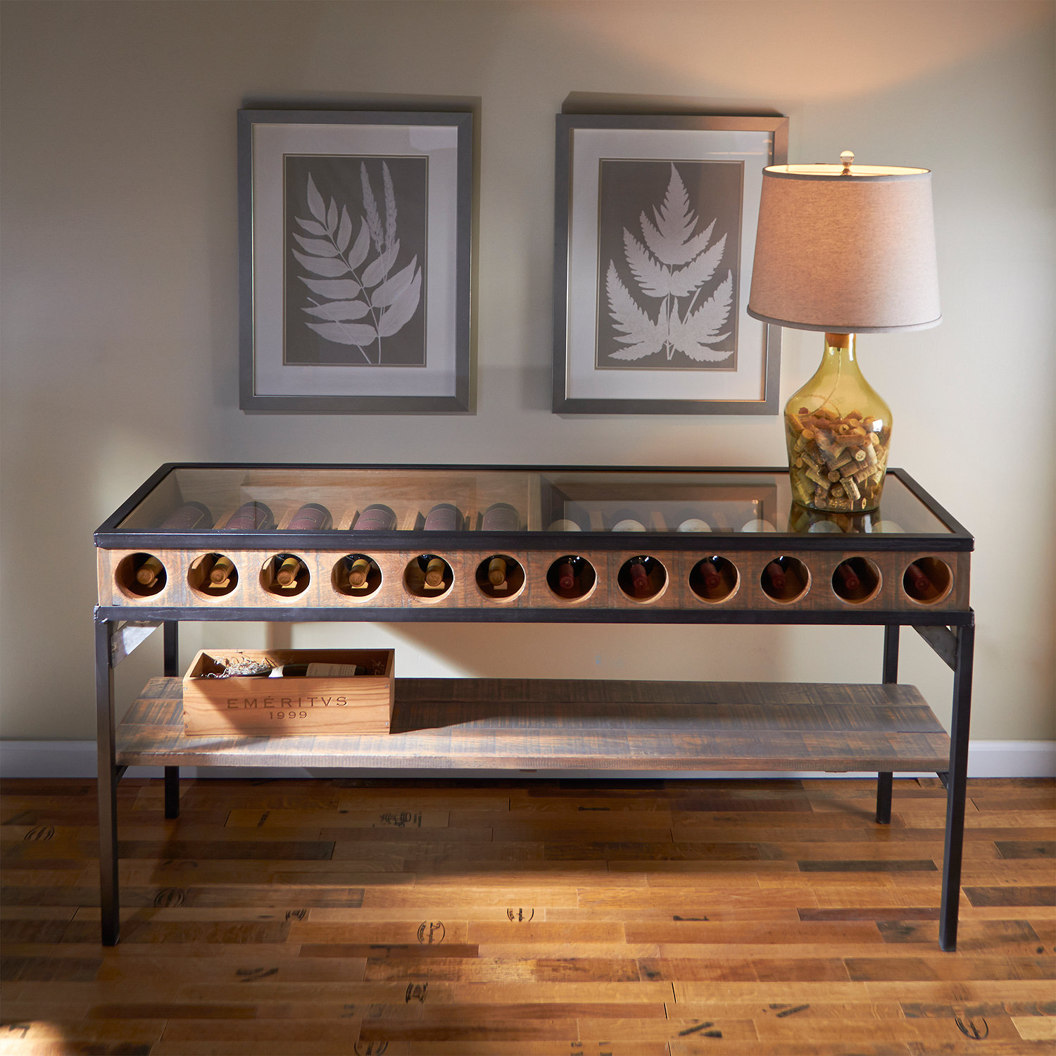 Wine Bottle Display Console Table Wine Enthusiast