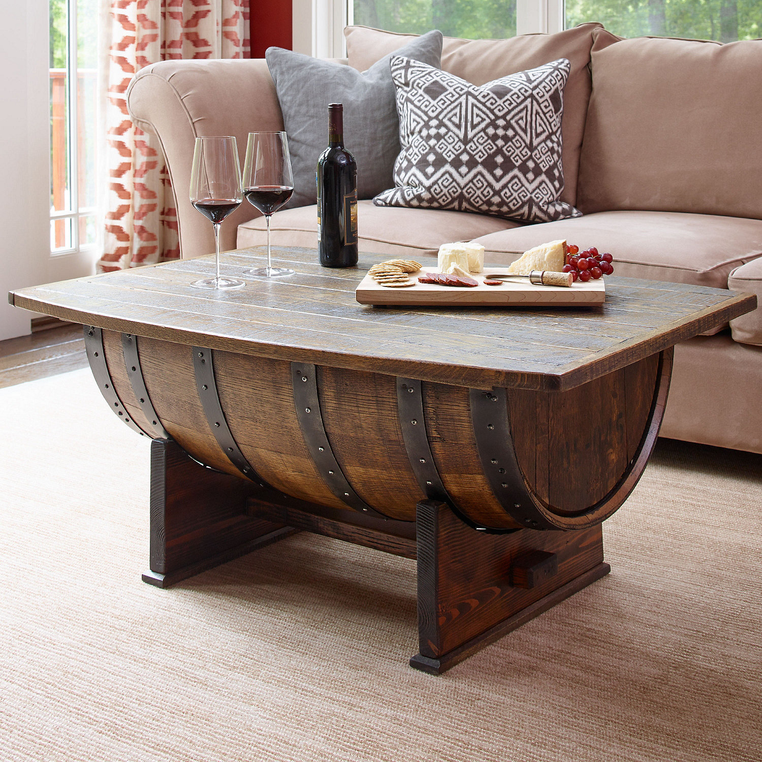 Half Barrel Coffee Table For Your Living Room