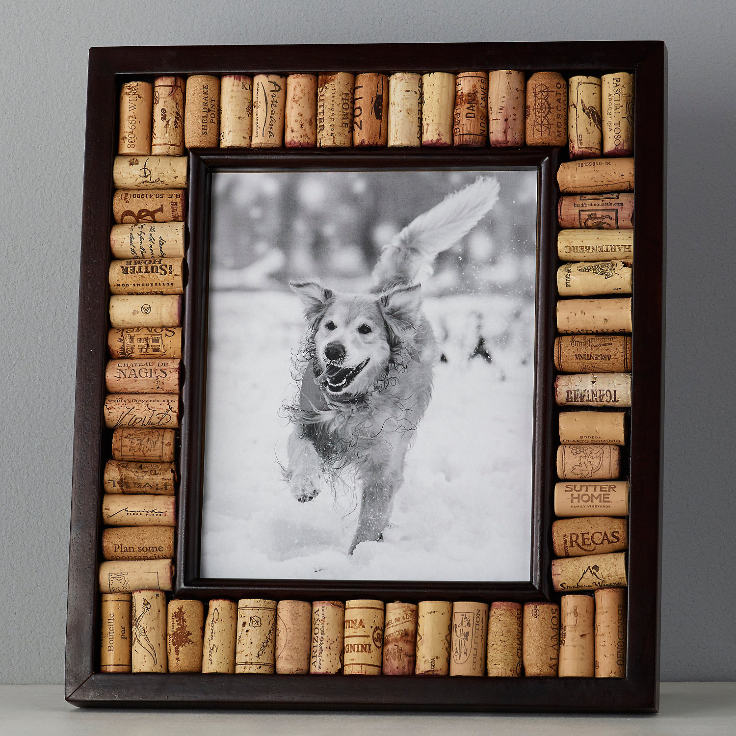 Wine Cork Picture Frame Kit 8x10 Photo Espresso Finish Wine