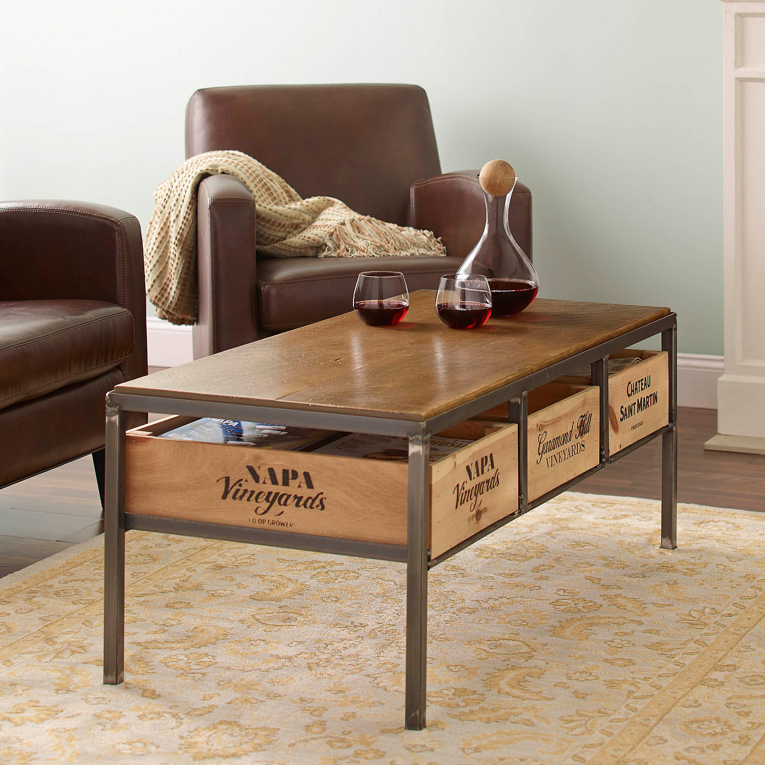 Preparing Zoom - Vino Vintage Coffee Table - Wine Enthusiast