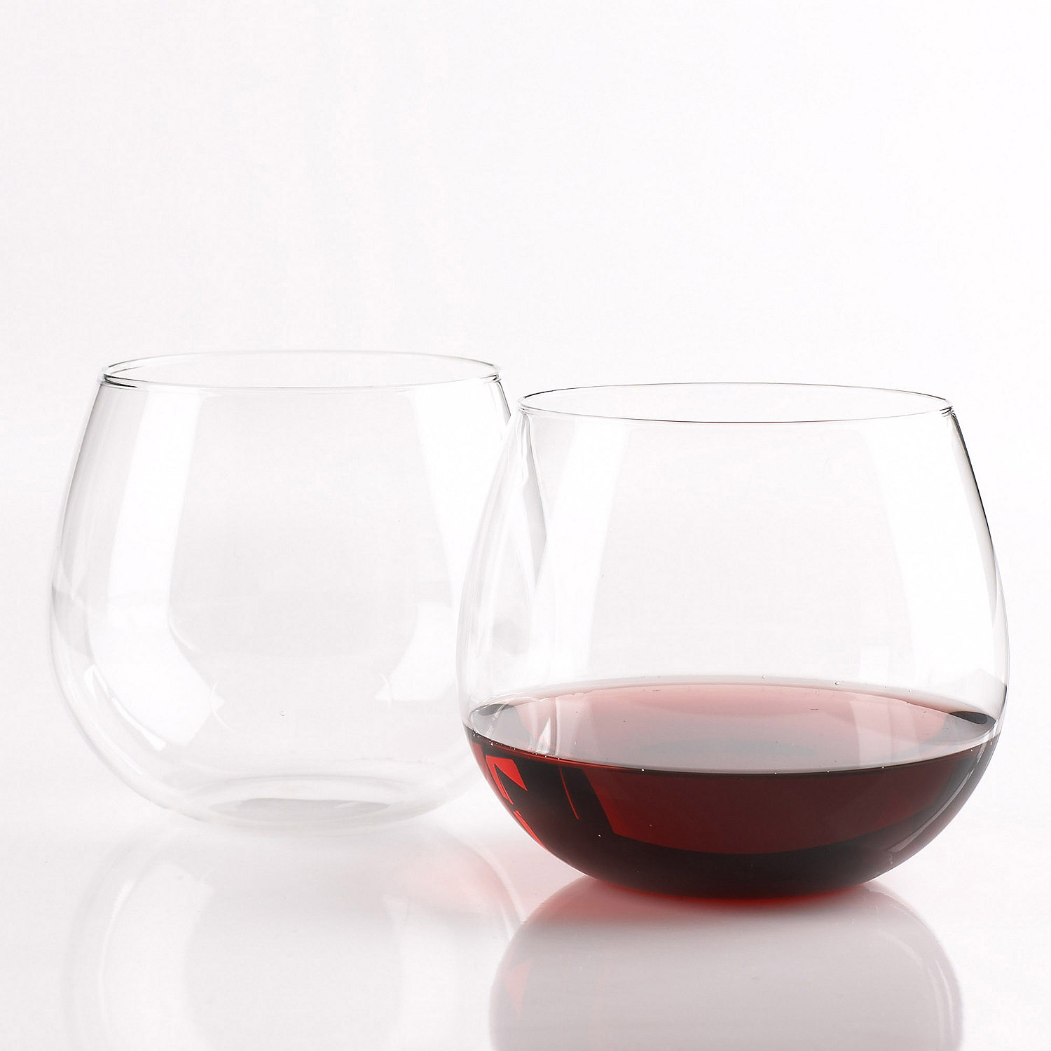 wine enthusiast pinot noir stemless wine glasses set of 8 wine