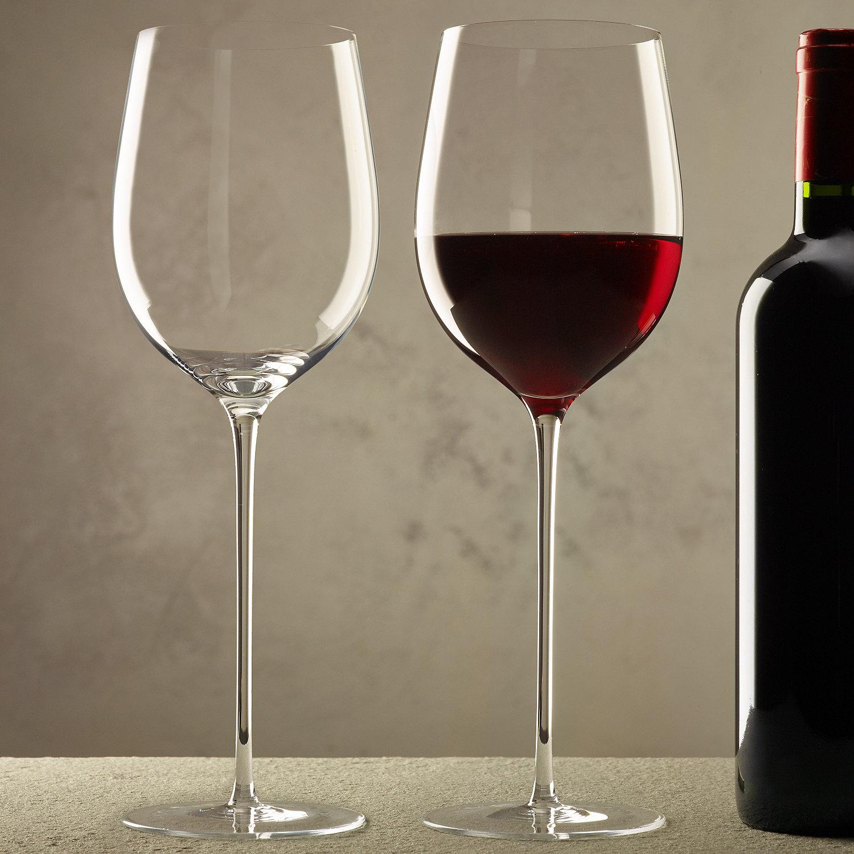 ZENOLOGY Long Stem Red Wine Glasses Set Of 2