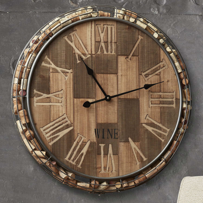 Cork Catcher Wall Clock Wine Enthusiast