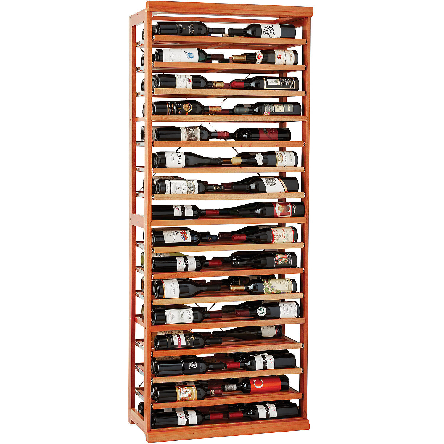 aca818d2f8 N'FINITY Label-View Wine Rack Kit with Rolling Shelves - Wine Enthusiast
