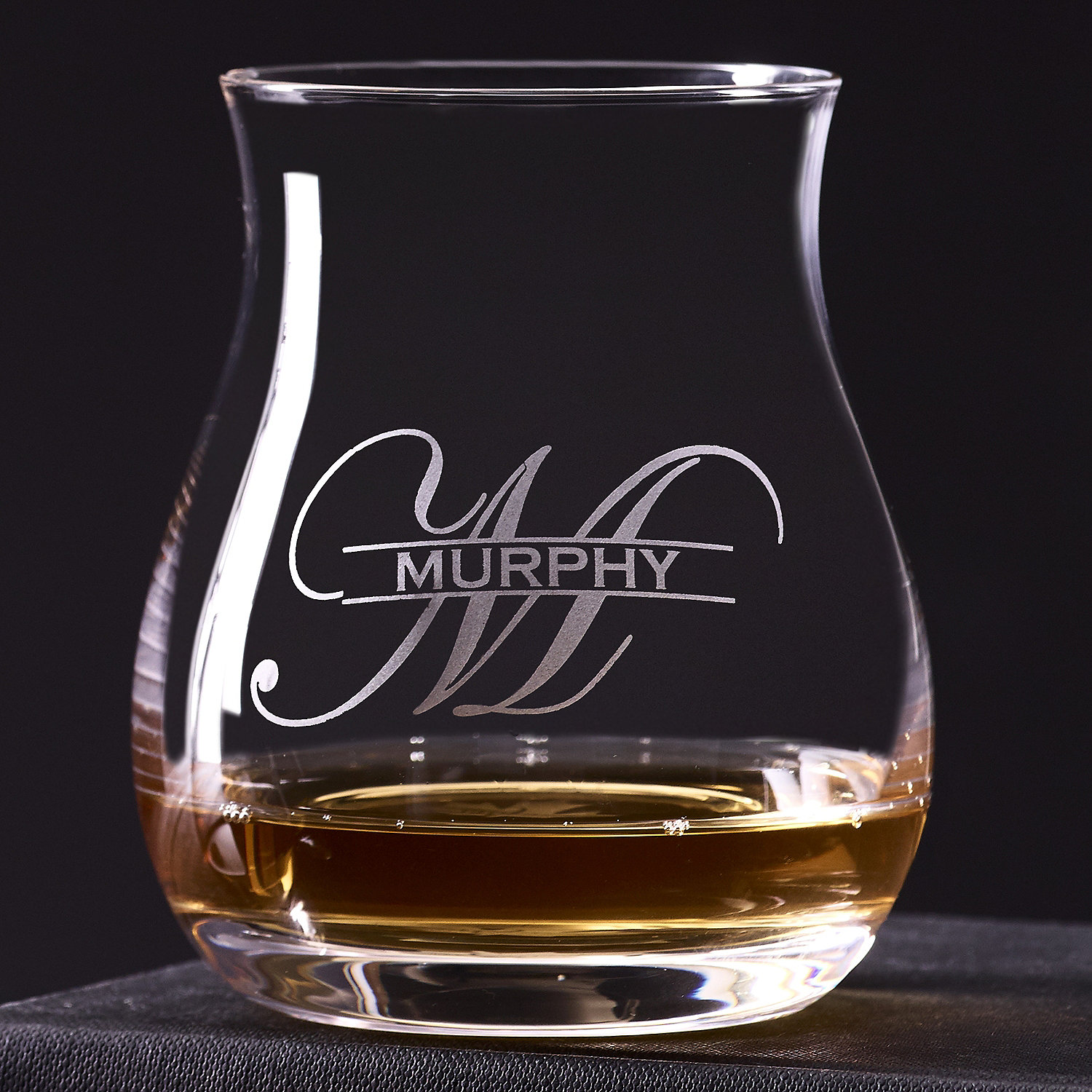 25b34185d3b7 Personalized Glencairn Wide-Bowl Whisky Glasses (Set of 4) - Wine Enthusiast
