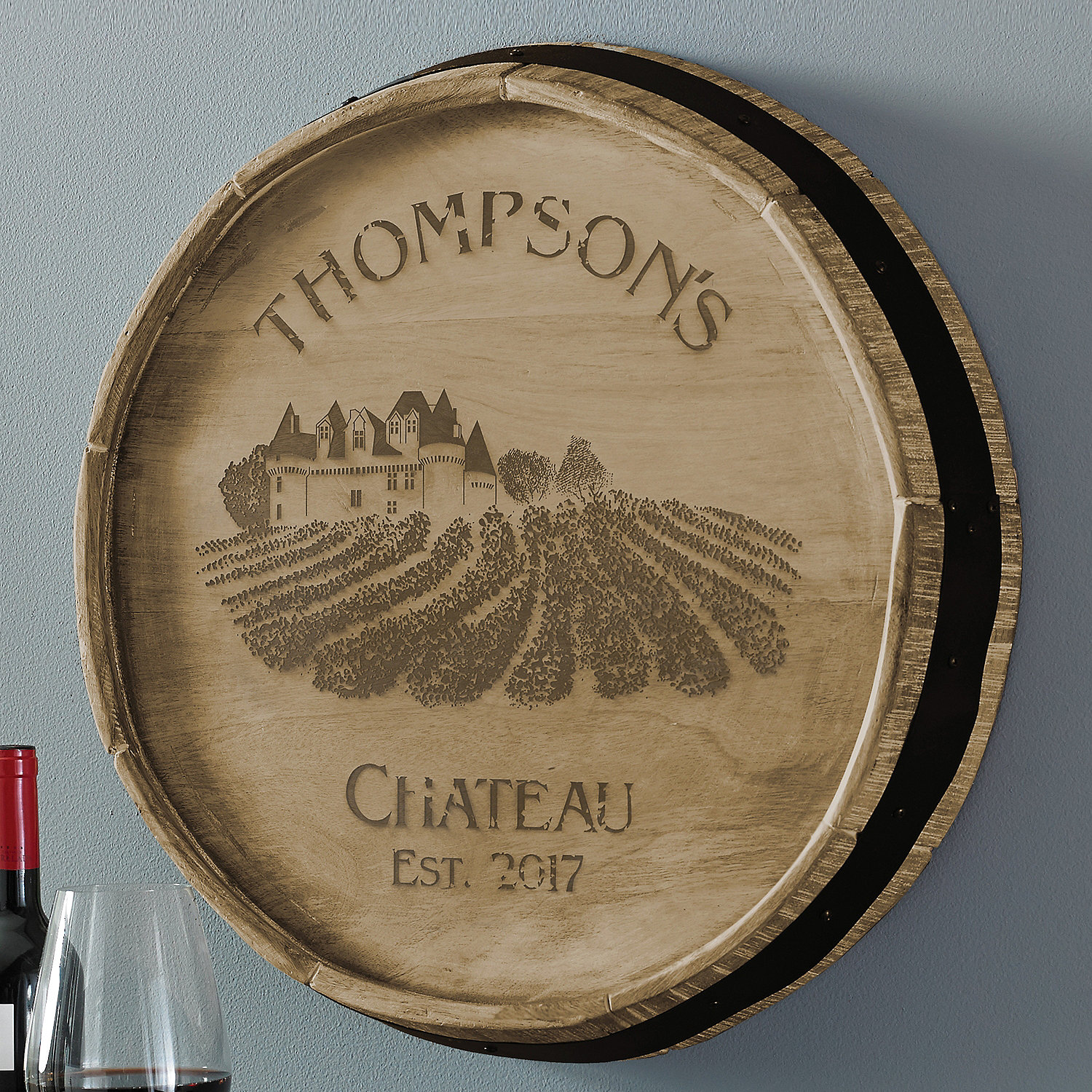 Personalized Wine Barrel Tray Wall Decor Sign Concassageinfo