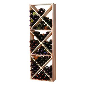 Redwood Modular Wine Rack Kit - 132 Bottle