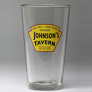 Personalized Yellow Tavern Beer Glasses (Set of 4)