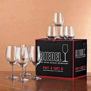 Riedel Vinum Bordeaux Wine Glasses Plus 4 Bonus