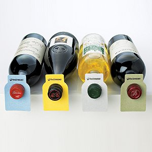 100 Wine Enthusiast Color Coded Wine Bottle Tags