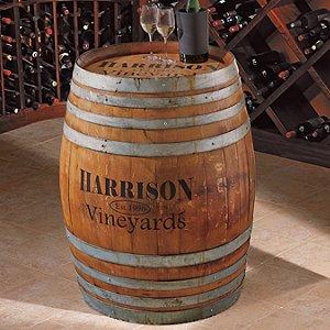 Personalized Finished Full Wine Barrel Wine Enthusiast