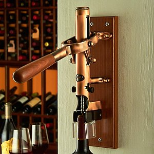 BOJ Wall Mounted Corkscrew with Wood Backing (Old