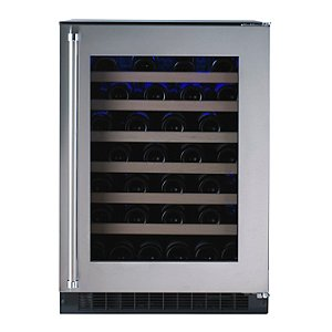American Designer Series 54-Bottle Wine Refrigerator (Stainless