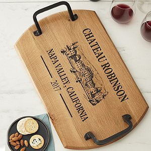 Personalized Estate Rectangular Barrel Tray