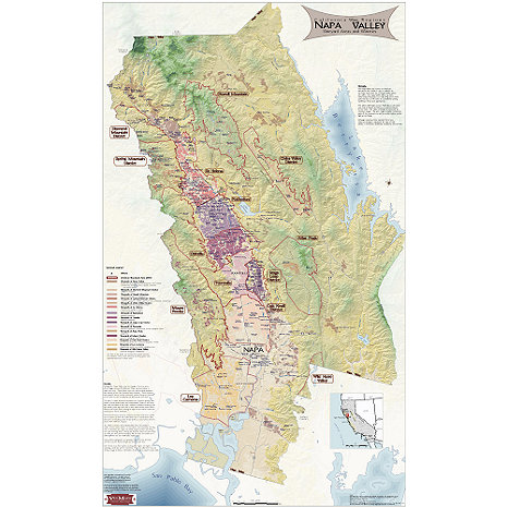 Napa Valley Wine Map