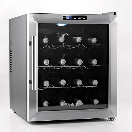 wine enthusiast wine cooler wine enthusiast silent 16 bottle wine refrigerator 31189