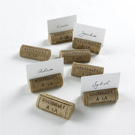 Wine Cork Place Card Holders Set Of 8 Wine Enthusiast