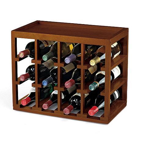 12 Bottle Cube Stack Wine Rack Wine Enthusiast