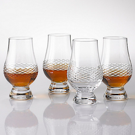 Glencairn Whiskey Glasses with Diamond Band (Set of 4)