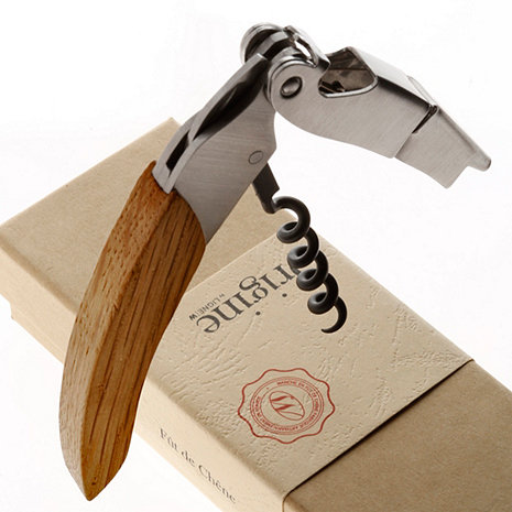Origine Reclaimed Wine Barrel Waiter's Corkscrew (Oiled Finish)