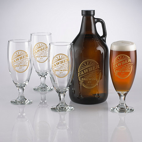 Personalized Brewing Co Growler and Pilsner Set