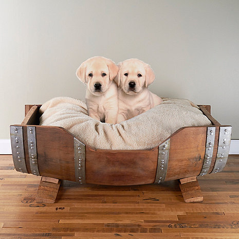 Wine Barrel Pet Bed Large