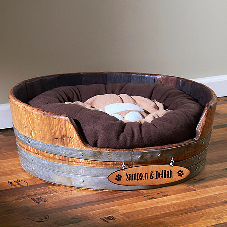 Personalized Wine Barrel Pet Bed Small Wine Enthusiast