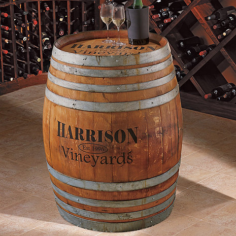 Personalized Finished Full Wine Barrel