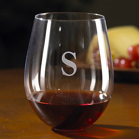 Personalized Wine Enthusiast Cabernet Stemless Wine Glasses (Set of 4)
