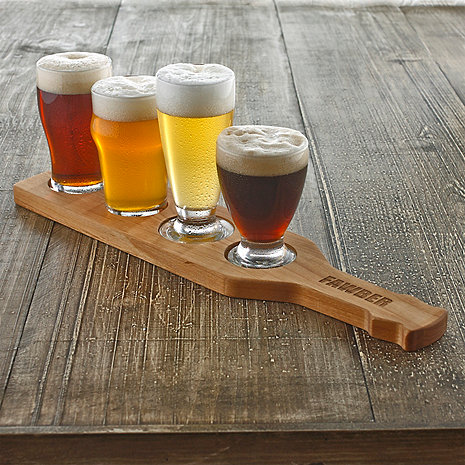Personalized Craft Beer Flight Set