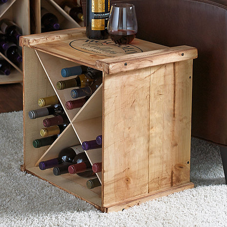 Personalized X Wine Crate Rack