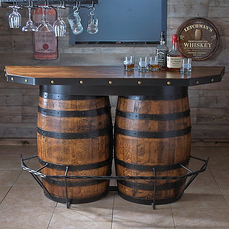 Tennessee Whiskey Barrel Bar